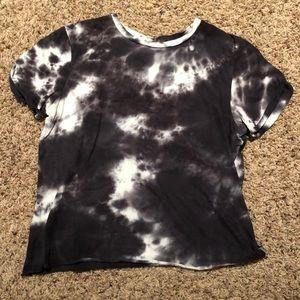 Black/white tye-dye t-shirt